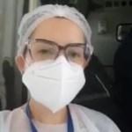 WhatsApp Image 2021 01 17 at 17.56.40 e1610917985422 - 'VENCEREMOS A BATALHA': em Manaus, enfermeira paraibana grava depoimento emocionado e mostra primeiro paciente a embarcar para a Paraíba; VEJA VÍDEO