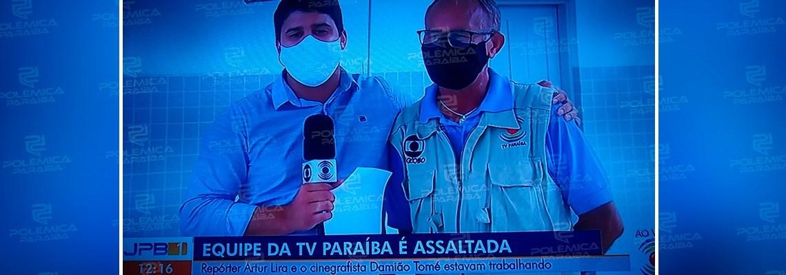 Equipe de reportagem daTV Paraíba é assaltada no Centro de Campina Grande