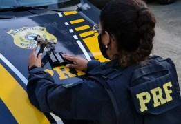 Casal é preso pela PRF na Paraíba com pistola e 50 munições