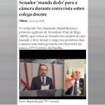 dedada ney antagonista - DESTAQUE NACIONAL: Gesto obsceno de Ney Suassuna repercute em todo o Brasil