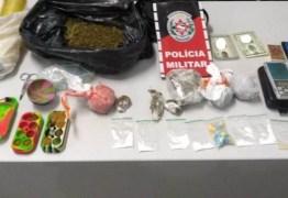 Polícia Militar apreende arma e drogas em abordagens a veículos em Campina Grande