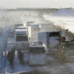 engavetamento japao - Neve causa engavetamento de 134 veículos no Japão; uma pessoa morreu