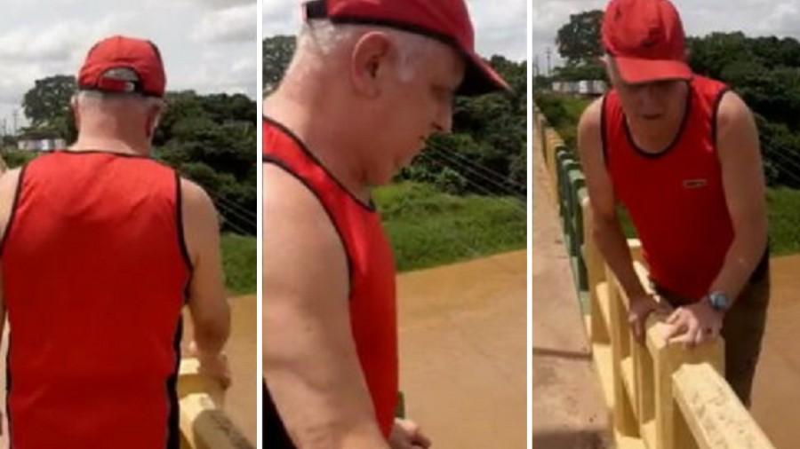 Turista idoso desaparece após tentar gravar vídeo e cair de ponte
