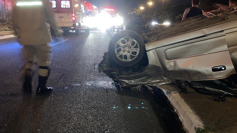 whatsapp image 2021 01 31 at 09.34.50 - Em João Pessoa:carro capota deixando três pessoas feridas e uma morta