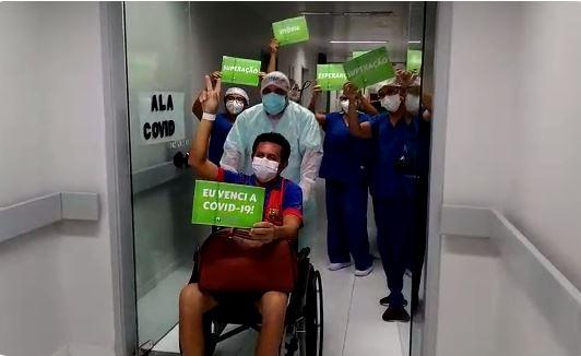 Capturar 24 - Primeiro paciente do segundo grupo vindo de Manaus recebe alta em João Pessoa