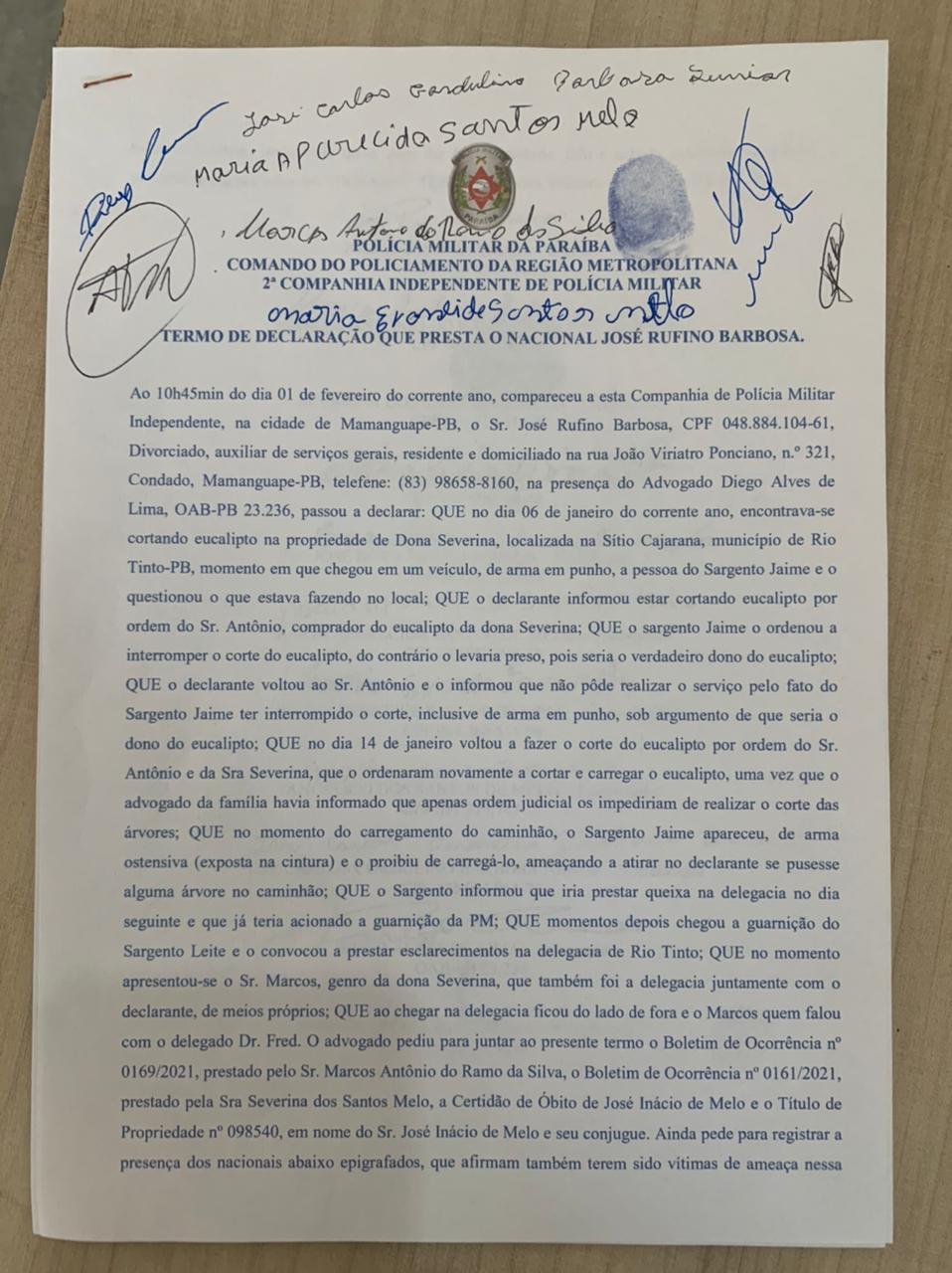 """WhatsApp Image 2021 02 01 at 13.37.16 - GRANDE CONFUSÃO! Após tentativa de """"grilagem de terras"""" em Rio TInto, moradores apelam por ajuda do Governo e do Tribunal de Justiça"""