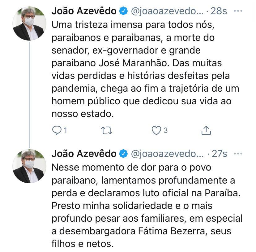 WhatsApp Image 2021 02 08 at 22.12.15 - Governador João Azevêdo decreta luto oficial pela morte de Zé Maranhão