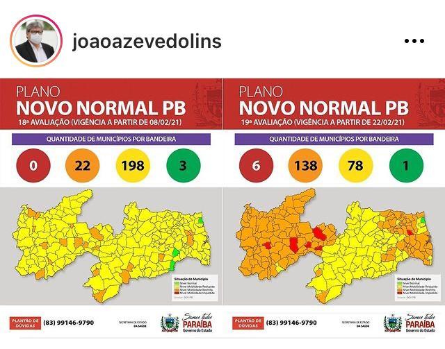 WhatsApp Image 2021 02 20 at 16.13.07 - BANDEIRA VERMELHA: Governador João Azevedo estuda ação efetiva para evitar colapso do sistema de saúde