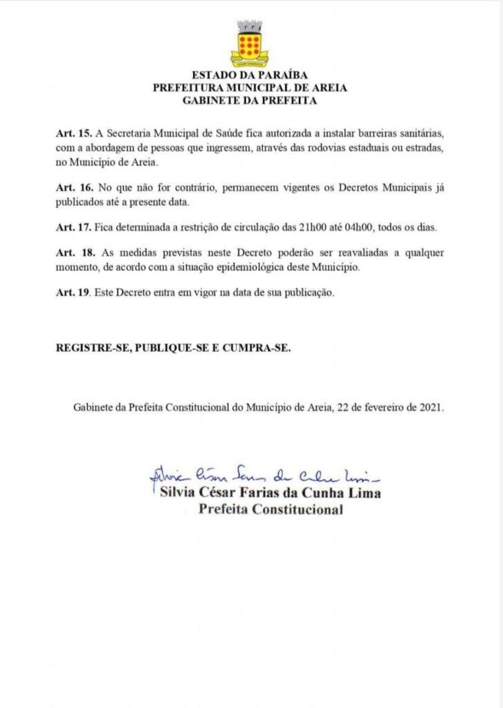 "WhatsApp Image 2021 02 22 at 10.43.50 727x1024 1 - Município da Paraíba decreta ""toque de recolher"" e fecha bares, hotéis e pousadas por 30 dias para coibir coronavírus"