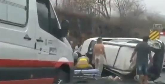acidente cg - Dois capotamentos na BR-230 próximo a CG causam uma morte e deixam cinco pessoas feridas