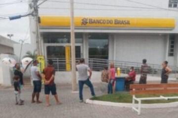 Homem é preso após quebrar,  a pedradas, vidraça do Banco do Brasil, em Patos