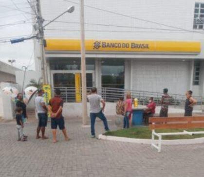 bb 1 - Homem é preso após quebrar,  a pedradas, vidraça do Banco do Brasil, em Patos