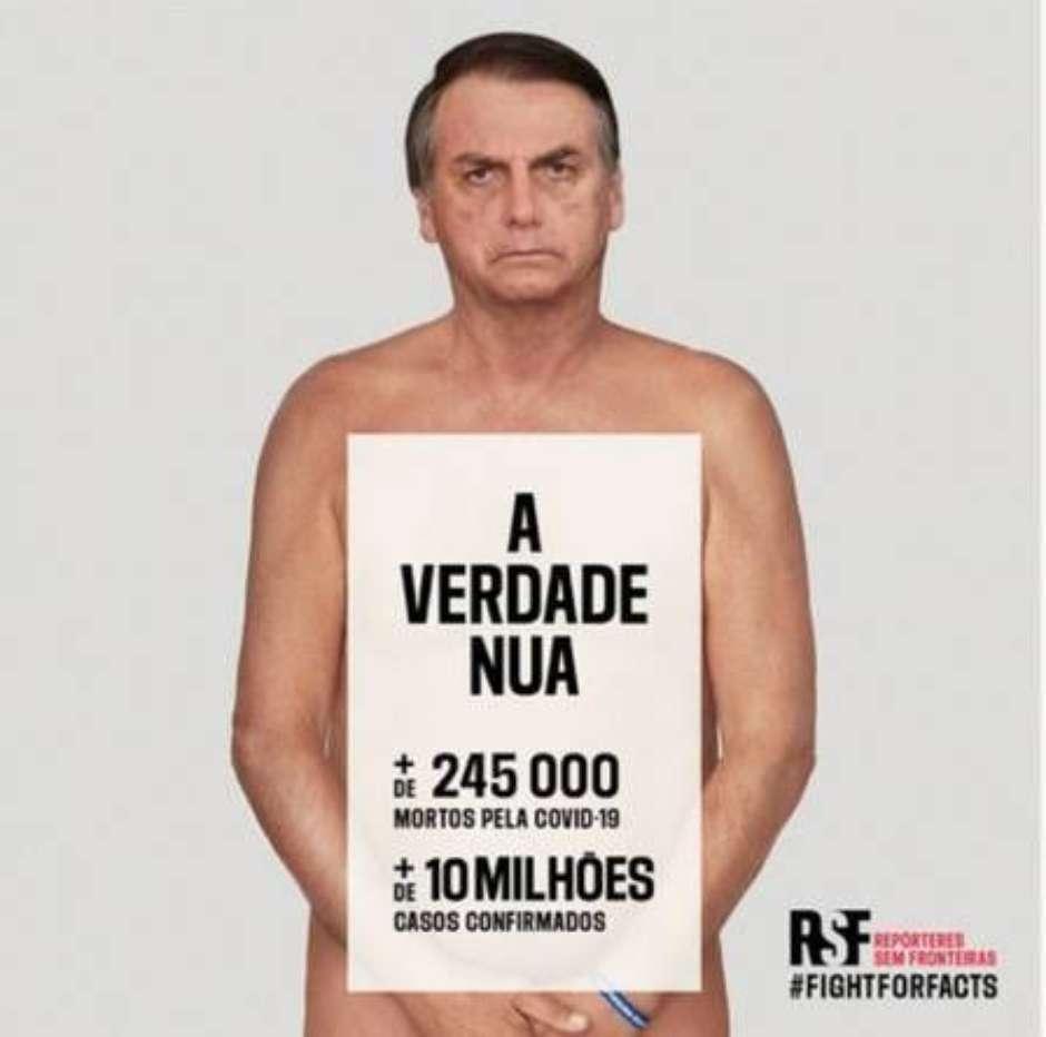 bozo 1 - ONG usa Bolsonaro 'nu' para campanha contra desinformação