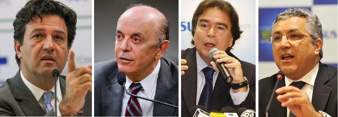 ministros - Ex-ministros da Saúde recomendam lockdown para evitar colapso do país diante da nova escalada da Covid-19