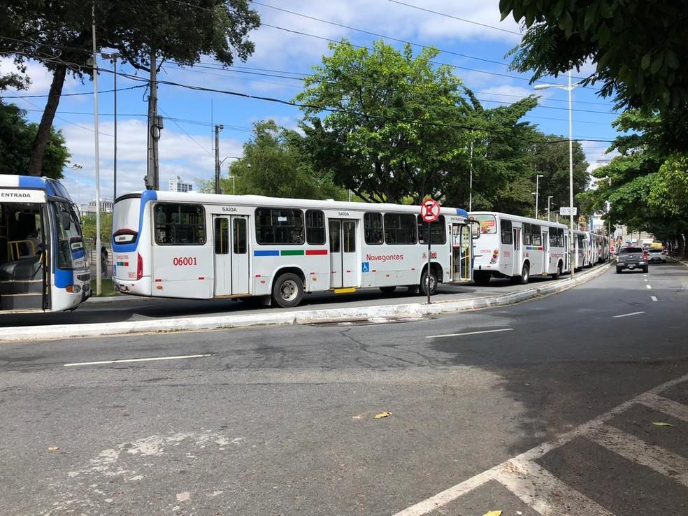 paralisacao onibus - Linhas de ônibus serão reforçadas nesta segunda-feira em João Pessoa