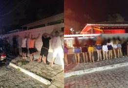 50 PESSOAS SEM MÁSCARAS: Polícia encerra festa clandestina regada a bebidas e drogas em João Pessoa