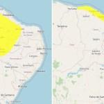 19bf499562cda1930d709ca39423a878 - RAIOS E ALAGAMENTOS: Inmet coloca João Pessoa e mais 63 cidades sob alerta para chuvas na Paraíba
