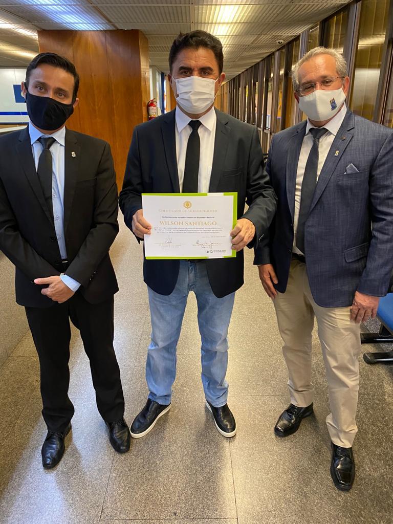 30032021 UFPB 5 - Wilson Santiago recebe reconhecimento da UFPB e do Hospital Universitário Lauro Wanderley por apoio às instituições