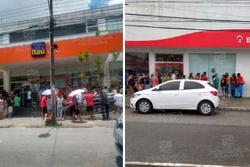 Demissão ou adoecimento de funcionários pode ser motivo para filas gigantes e aglomerações em bancos na Paraíba