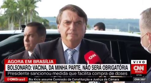 BOLSONARO 2 - Se Lula fosse presidente, 90% das verbas contra Covid-19 seriam roubadas, diz Bolsonaro; VEJA VÍDEO