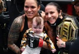 Após vitória, Amanda Nunes comemora com filha e encanta até rival – VEJA VÍDEO