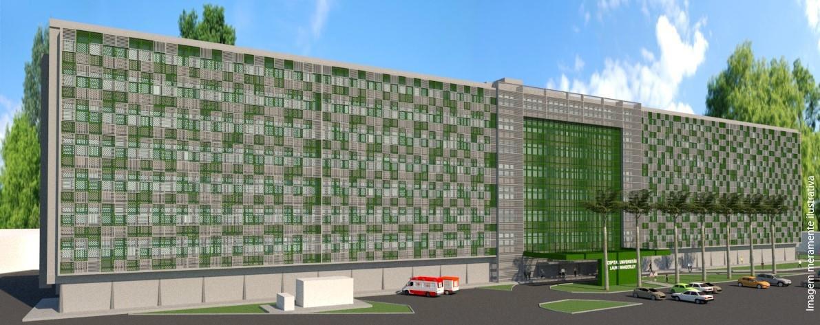 Foto Ilustrativa Nova fachada HULW - Superintendência do HU garante recursos de R$ 6,3 milhões da bancada federal paraibana para reestruturação do hospital