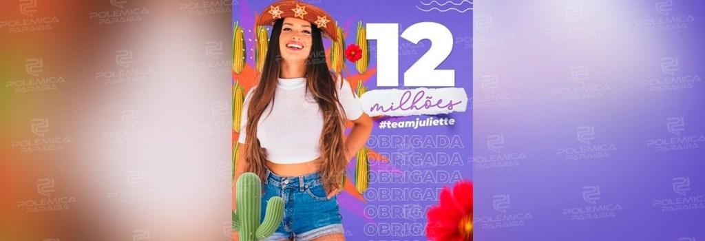 WhatsApp Image 2021 03 04 at 18.38.41 1024x350 - SUCESSO! Paraibana Juliette atinge 12 milhões de seguidores no Instagram e se torna a segunda participante mais seguida