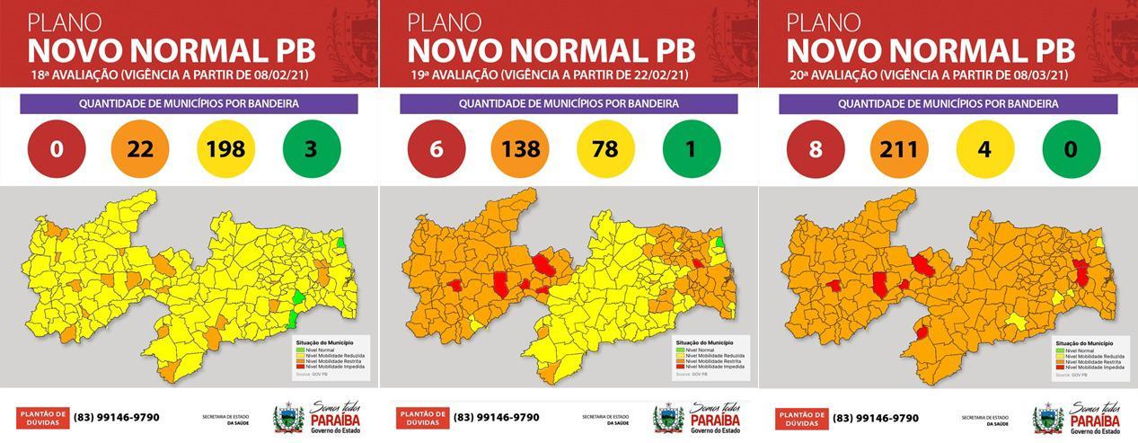 WhatsApp Image 2021 03 06 at 17.46.56 1 - Novo Normal Paraíba: classificação aponta 211 cidades na bandeira laranja e nenhuma em bandeira verde