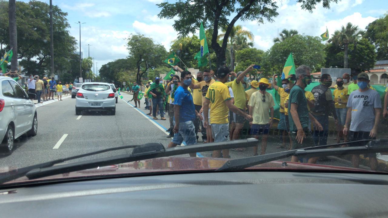 WhatsApp Image 2021 03 14 at 11.32.08 - EM JOÃO PESSOA: Grupo faz carreata em apoio ao presidente Jair Bolsonaro - VEJA VÍDEOS
