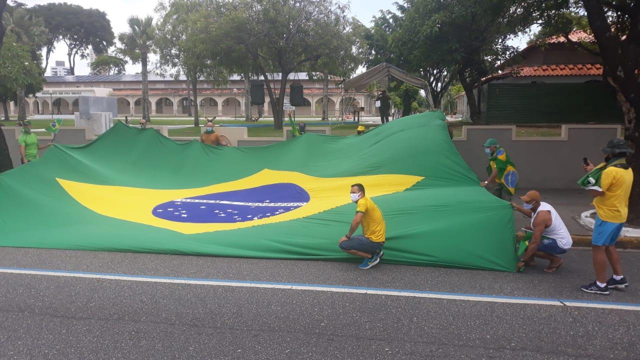 WhatsApp Image 2021 03 14 at 11.40.07 - EM JOÃO PESSOA: Grupo faz carreata em apoio ao presidente Jair Bolsonaro - VEJA VÍDEOS