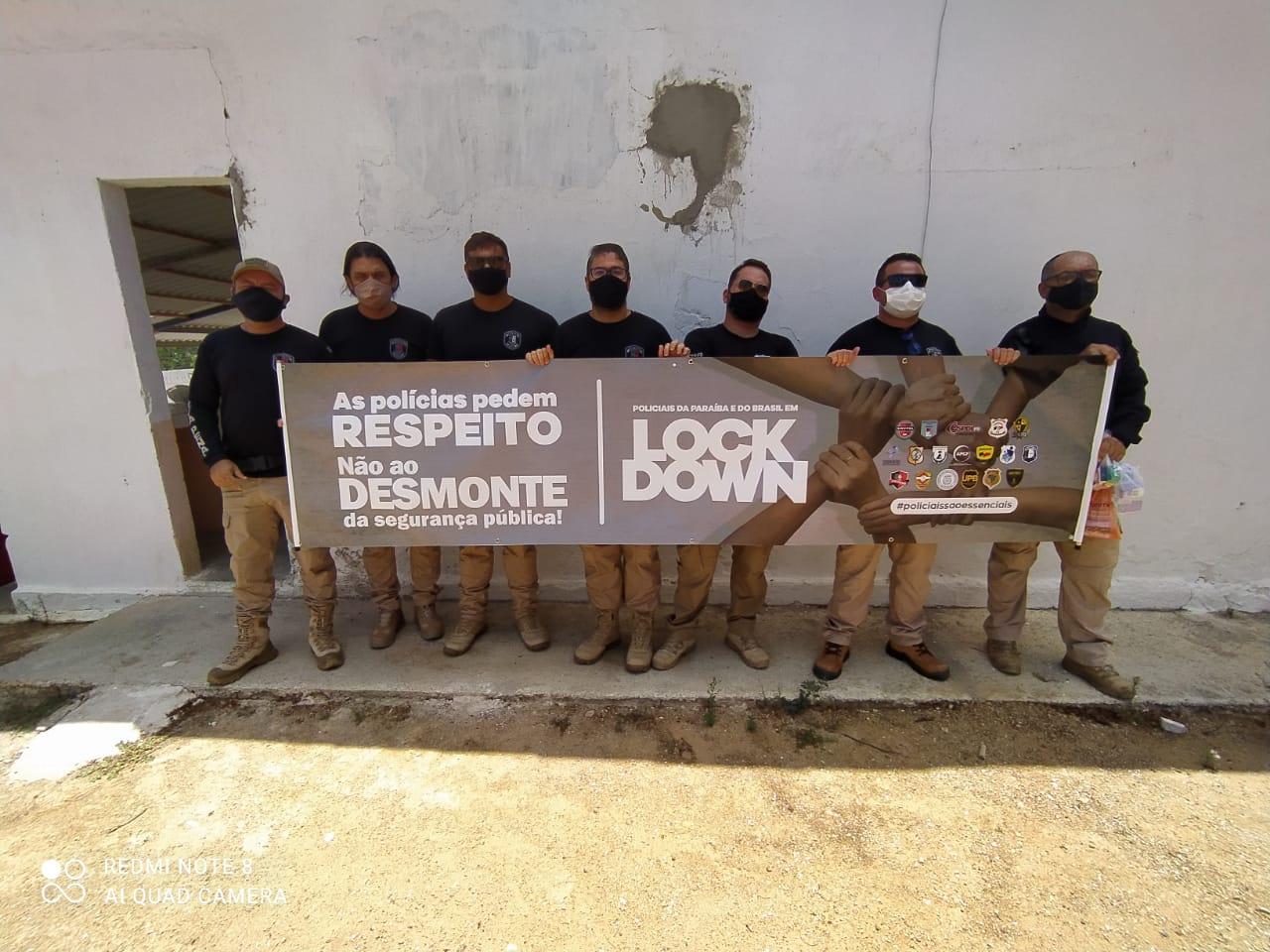 WhatsApp Image 2021 03 22 at 16.42.25 1 - Polícias da Paraíba paralisaram atividades pedindo vacinação para a classe; diretor da ASPOL diz que movimento é nacional