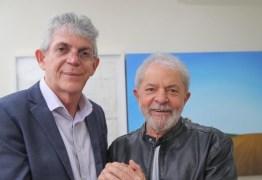 """Ricardo Coutinho: """"Salve a liberdade e a recuperação dos direitos plenos do Presidente Lula"""""""