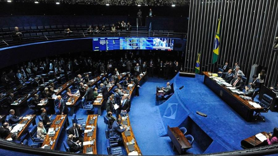 plenario do senado federal 1614636070323 v2 900x506 - Senado aprova texto base da PEC Emergencial, que recria auxílio emergencial