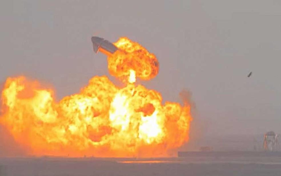 space explosao - Protótipo de foguete da SpaceX explode após pouso - VEJA VÍDEO