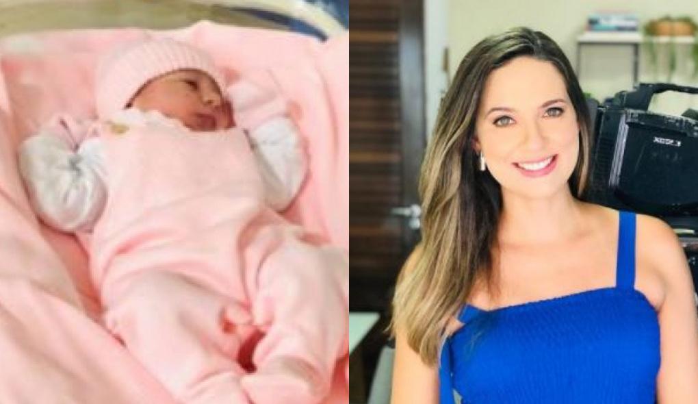 1619691365647139 - Nasce em João Pessoa, Maria Luiza, filha da jornalista Denise Delmiro