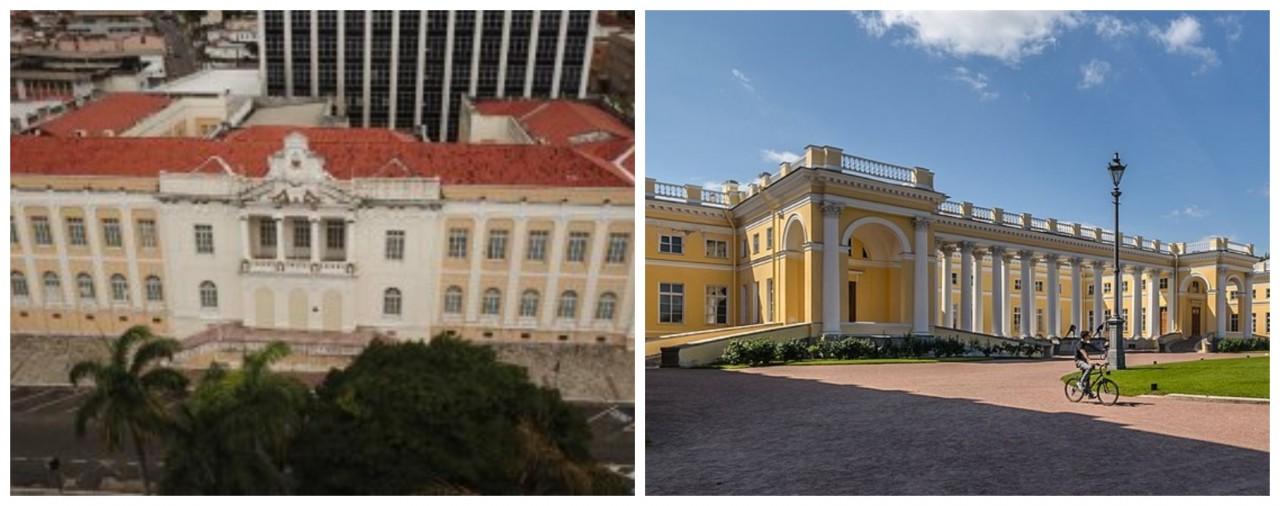 """BeFunky collage 1 - """"Miniatura do Palácio Alexandre"""": Prédio do TJPB chama a atenção por sua beleza e semelhança com palácio russo"""