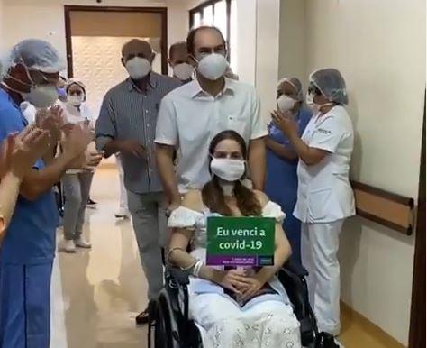 Capturar.JPGweeee - Médica Marcília Lopes se recupera da Covid-19: 'Eu renasci, amigos' - VEJA VÍDEO
