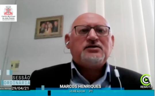 Marcos Henriques 1 - Marcos Henriques critica projeto que altera regime de previdência municipal; VEJA VÍDEO