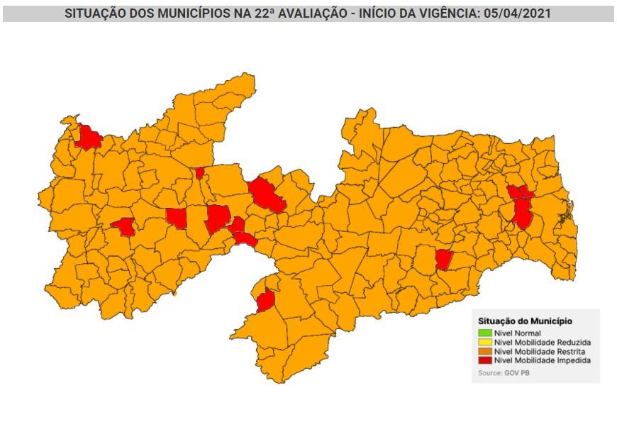 PARAÍBA NOVO NORMAL - PLANO NOVO NORMAL: Paraíba tem 94% das cidades na bandeira laranja e 6% na vermelha; CONFIRA NA ÍNTEGRA