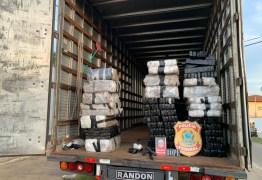 PF apreende caminhão com 200 quilos de drogas em Cachoeira dos Índios
