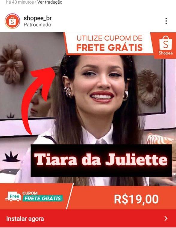 WhatsApp Image 2021 04 15 at 14.33.08 e1618615402893 - TUDO QUE ELA USA FAZ SUCESSO: marcas e lojas online usam nome de Juliette para promover seus produtos; confira