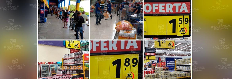 WhatsApp Image 2021 04 23 at 14.46.26 - AGLOMERAÇÃO EM JP: Supermercado decide baixar o preço de bebidas e provoca fila gigantesca - CONFIRA