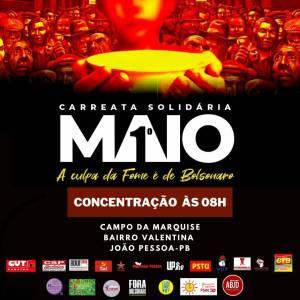 WhatsApp Image 2021 04 29 at 18.16.15 - EM JP: Movimentos políticos e sociais convocam a população para carreata em protesto contra Bolsonaro