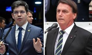 """bolsonaro e randolfe 1 - Bolsonaro xinga e fala em """"ir para porrada"""" com senador Randolfe durante conversa divulgada por Kajuru - OUÇA"""