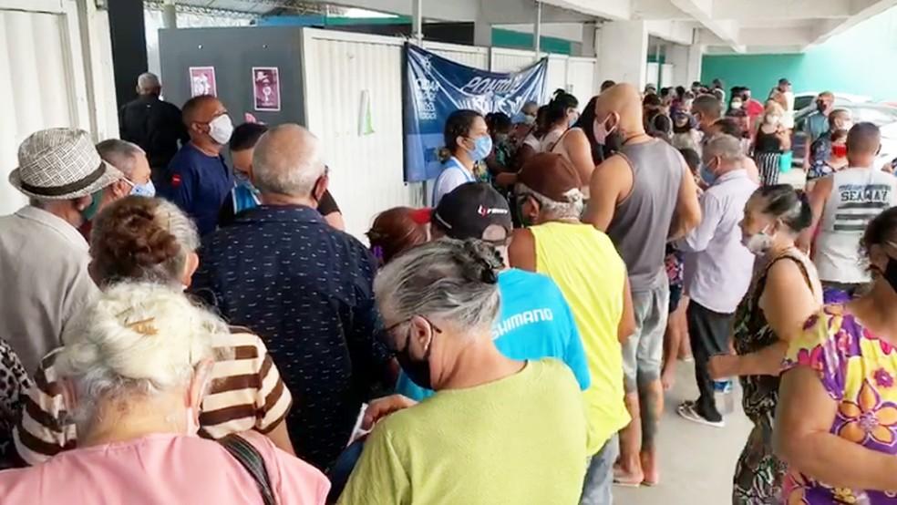 capture 20210420 122024 - Vacinas acabam e aglomeração é registrada no Centro Cultural de Mangabeira, em João Pessoa