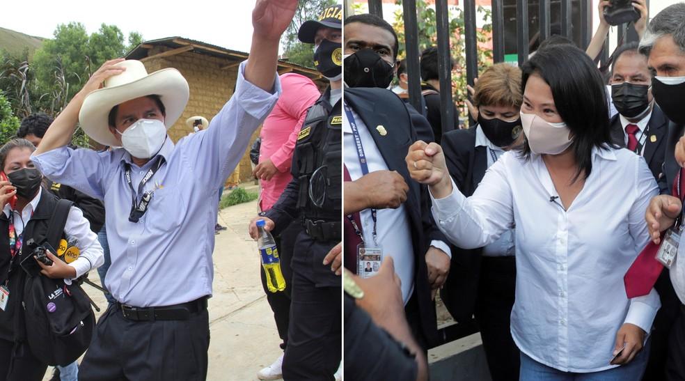 castillo keiko - Socialista amplia vantagem na corrida presidencial no Peru, diz pesquisa