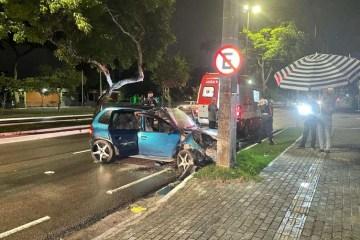 csm acidente joao pessoa paraiba 5c0fa10213 - ACIDENTE EM JP: Motorista sem CNH e com suspeita de embriaguez bate em poste