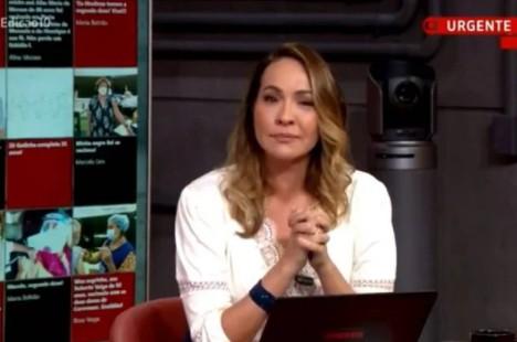 """maria beltrao - Apresenadora Maria Beltrão chora ao vivo no GloboNews ao noticiar caso Henry: """"Algo difícil de qualificar"""""""