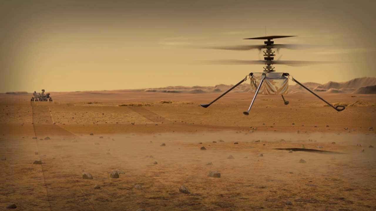 maxresdefault 2 - Helicóptero da Nasa levanta voo em Marte pela primeira vez - VEJA VÍDEO