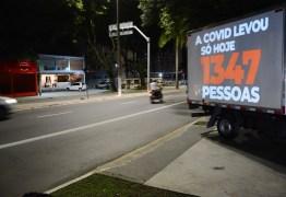 CMJP passa a projetar mensagens de alerta contra a Covid-19 em prédios da Capital